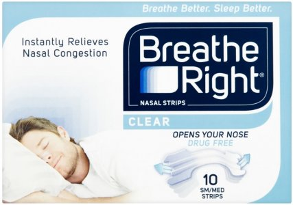 Breathe Right Nasal Strips Small/Medium Clear Pack of 10