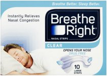 Breathe Right Nasal Strips Large Clear Pack of 10