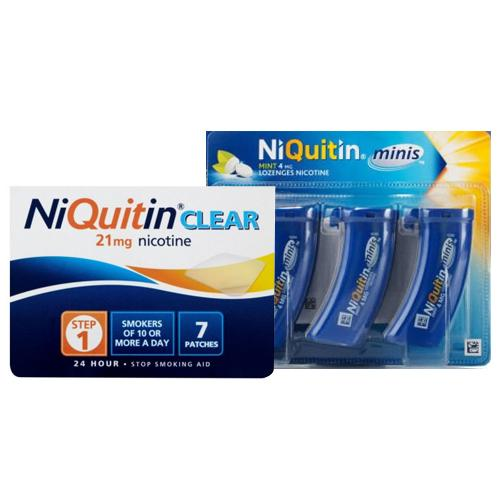 Niquitin Clear Patch Step 1 + Niquitin Minis Pack of 60