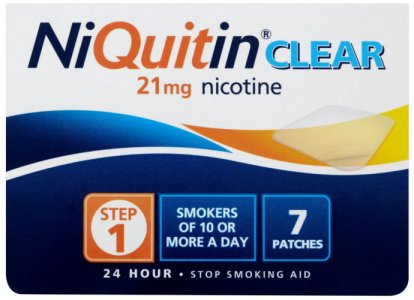 Niquitin 21mg Patches Clear Step 1 Pack of 7