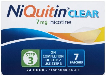 Niquitin 7mg Patches Clear Step 3 Pack of 7