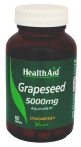 HealthAid Grapeseed 5000mg Tablets Pack of 60