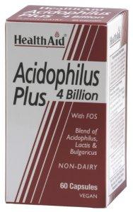 HealthAid Acidophilus Plus 4 Billion Vegicaps Pack of 60