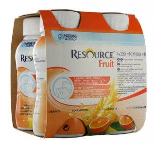 Resource Fruit Orange 200ml Pack of 4