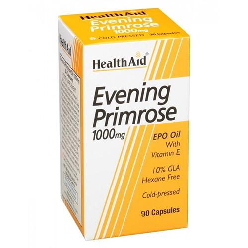HealthAid Evening Primrose Oil 1000mg Capsules Pack of 90