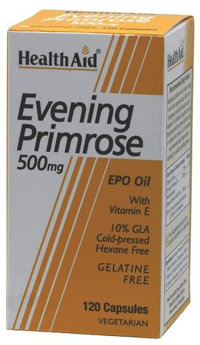 HealthAid Evening Primrose Oil 500mg Capsules Pack of 120