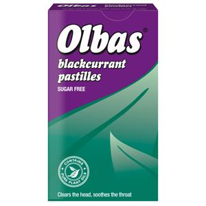 Olbas Sugar-free Blackcurrant 40g