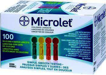 Microlet Blood Lancets 0.5mm/26g Pack of 100