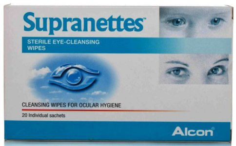 Supranettes Sterile Eye Cleansing Wipes Pack of 20