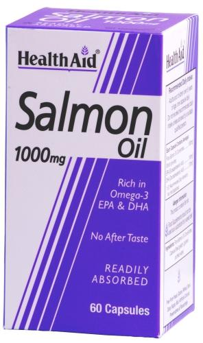 HealthAid Salmon Oil 1000mg Capsules Pack of 60