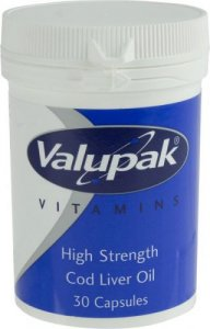 Valupak Cod Liver Oil High Strength Capsules 550mg Pack of 30