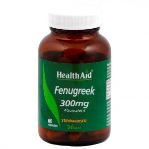 HealthAid Fenugreek 300mg Vegicaps Pack of 60