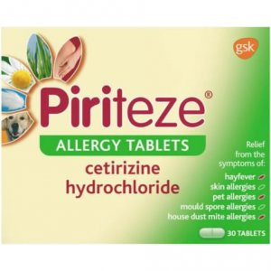 Piriteze Allergy Tablets Pack of 30 x 5