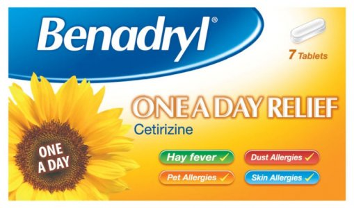 Benadryl One A Day 10mg Tablets Pack of 7