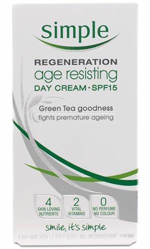 Simple Regeneration Age Resisting Day Cream SPF15 50ml