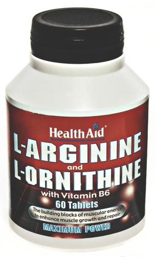HealthAid L-Arginine and L-Ornithine Tablets Pack of 60
