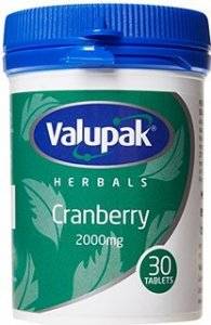 Valupak Cranberry 2000mg Pack of 30