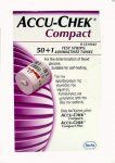 Accu Chek Compact Glucose Test Strips Pack of 50