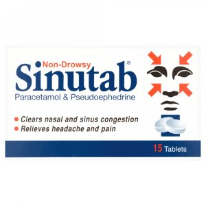 Sinutab Tablets Non-drowsy Pack of 15