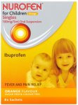 Nurofen For Children Orange Flavoured Sachets 5ml Pack of 8