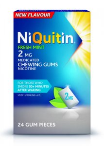 Niquitin 2mg Chewing Gum Freshmint Pack of 24