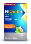 Niquitin 4mg Chewing Gum Freshmint Pack of 96