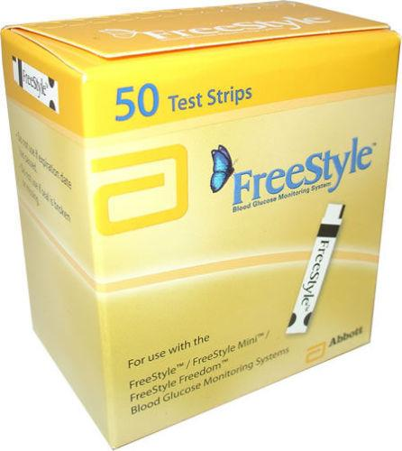 Freestyle Blood Glucose Test Strips Pack of 50
