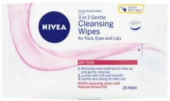 Nivea 3 in 1 Gentle Cleansing Wipes Pack of 25
