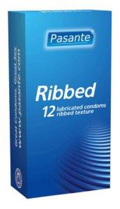 Pasante Ribbed Condoms Pack of 12