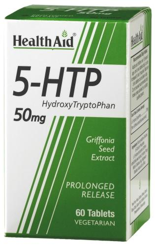 HealthAid 5-HTP (Hydroxytryptophan) 50mg Tablets Pack of 60