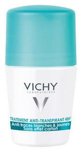 Vichy Deodorant 48hr No Trace Anti Perspirant Roll On