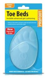 Profoot Toe Beds Gel Cushions Womens 1 Pair