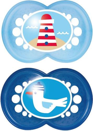 Mam Original Soother 6+m Blue Pack of 2