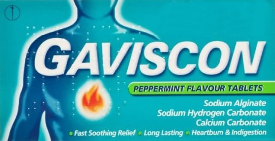 Gaviscon 250mg Peppermint Tablets Pack of 32