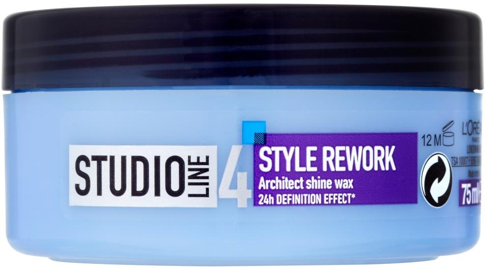 L'Oreal Studio Line 4 Style Rework Architect Shine Wax 75ml