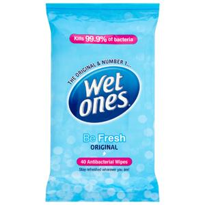 Wet Ones Be Fresh Original Wipes Family Pack of 40