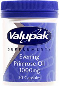 Valupak Evening Primrose Oil Capsules 1000mg Pack of 30