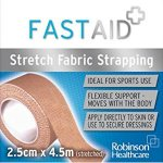 Fastaid Zinc Stretch Fabric Strapping 2.5cm x 4.5m