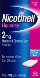 Nicotinell 2mg Chewing Gum Liquorice Pack of 96