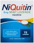 Niquitin 2mg Lozenges Mint Pack of 72