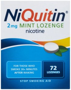 Niquitin 2mg Lozenges Mint Pack of 72