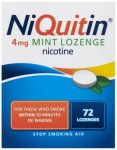 Niquitin 4mg Lozenges Mint Pack of 72