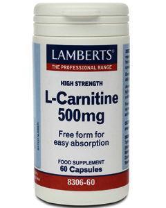 Lamberts L-Carnitine Capsules 500mg Pack of 60