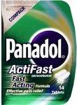 Panadol Actifast Tablets Compack Pack of 14