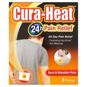 Cura-heat Back & Shoulder Pack of 3
