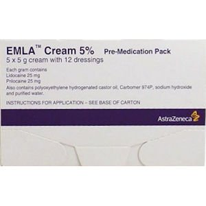 Emla Cream With Dressings Pre-medication Pack 5g Pack of 5