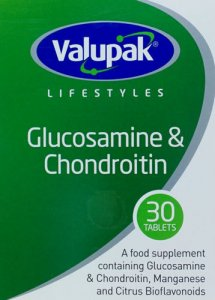 Valupak Glucosamine & Chondroitin Tablets 500/400mg Pack of 30