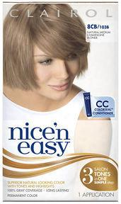 Clairol Nice n Easy Natural Med Champagne Blonde 8CB (formerly 103B)