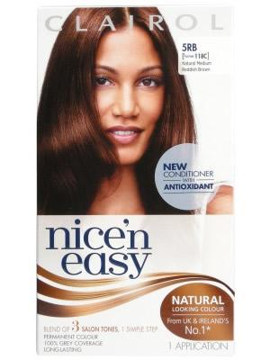 Clairol Nice n Easy Natural Medium Reddish Brown 5RB (formerly) 118C