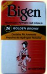 Bigen Permanent Powder Hair Colour Golden Brown 26